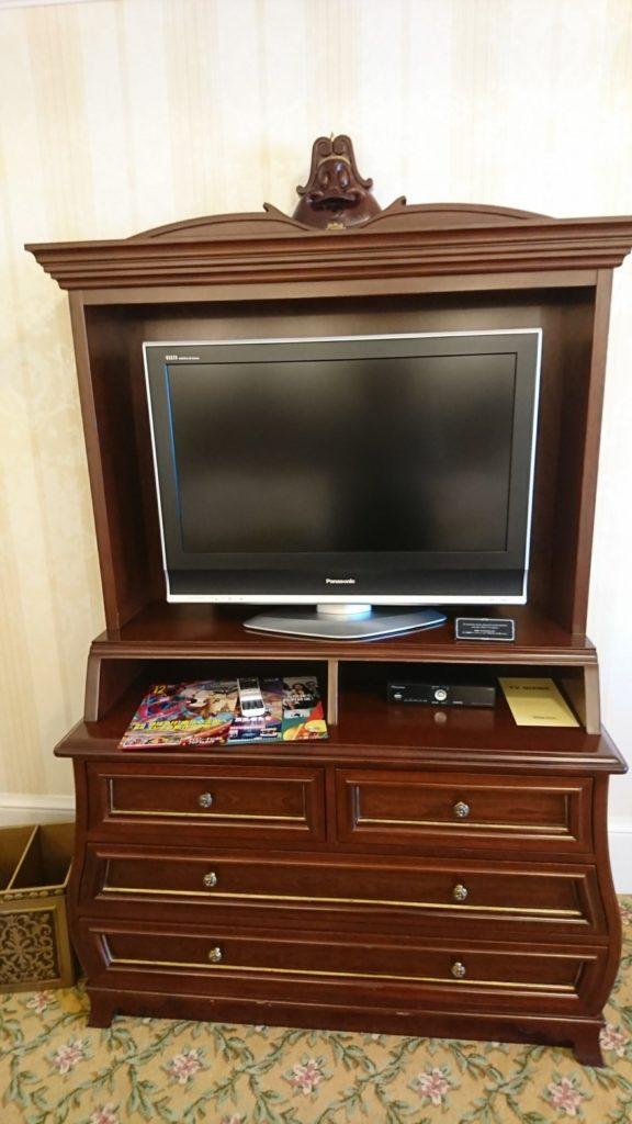 TV board in Tokyo Disney Land Hotel.