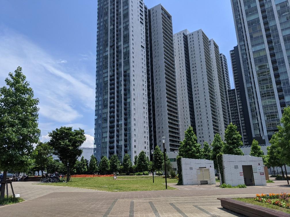 World City Towers from Konan Ryokusi Park