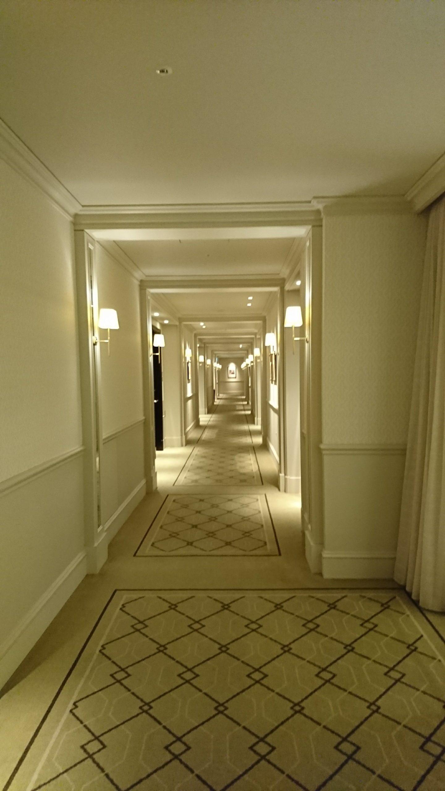 The corridor of Tokyo Station Hotel