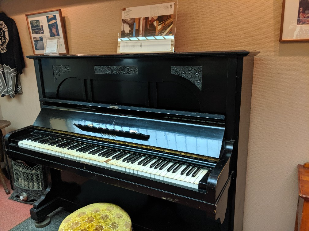 the piano at Manpei Hotel