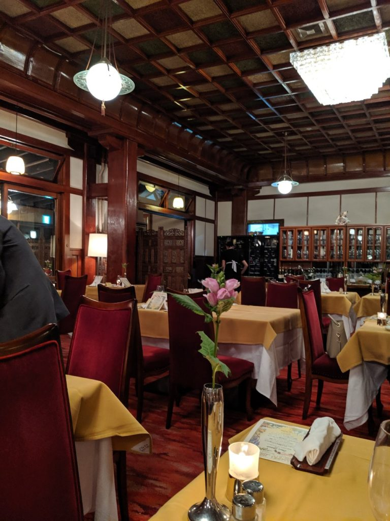 Main Dining Room in Manpei Hotel
